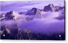 Three Summits. Julian Alps Acrylic Print