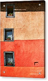 Three Vertical Windows Acrylic Print by Silvia Ganora