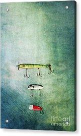 Three Vintage Fishing Lures Acrylic Print