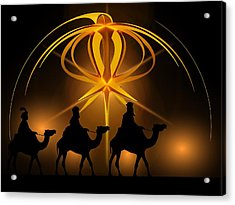 Three Wise Men Christmas Card Acrylic Print