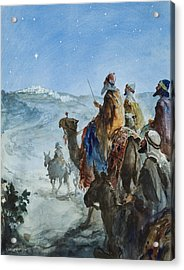 Three Wise Men Acrylic Print by Henry Collier