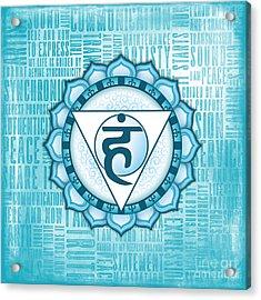 Throat Chakra - Awareness Acrylic Print by David Weingaertner