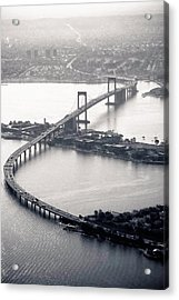 Throgs-neck Bridge - Nyc Acrylic Print by Original photography by Neos Design - Cory Eastman
