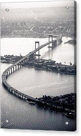 Throgs-neck Bridge - Nyc Acrylic Print by Original photography by Neos Design - Cory Eastman