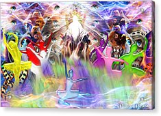 Acrylic Print featuring the digital art Throneroom Dance by Dolores Develde