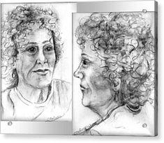 Through Her Eyes Acrylic Print by Carol Allen Anfinsen