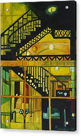 Acrylic Print featuring the painting Through Parisian Glass by Patricia Arroyo