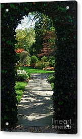 Through The Archway Acrylic Print by Eva Kaufman