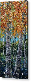 Through The Aspen Trees Diptych 1 Acrylic Print