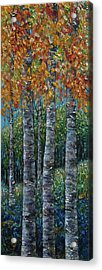 Through The Aspen Trees Diptych 2 Acrylic Print