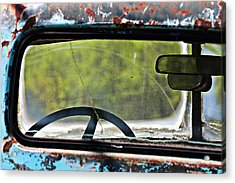 Through The Back Window- Antique Chevrolet Truck- Fine Art Acrylic Print