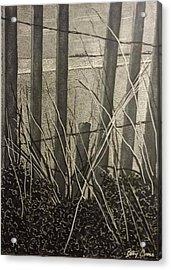 Through The Beach Fence Acrylic Print