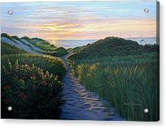 Through The Dunes Acrylic Print by Bruce Dumas