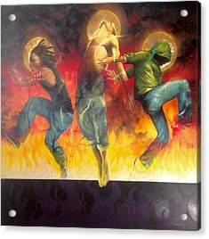 Acrylic Print featuring the painting Through The Fire by Christopher Marion Thomas