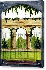 Through The Gates Acrylic Print by Michael Vigliotti
