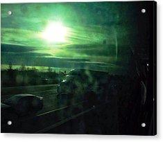 Through The Greyhound Window Home Acrylic Print