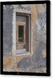 Through The Horton Window Acrylic Print by Rebecca Stephens