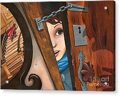 Through The Keyhole Acrylic Print by Denise M Cassano
