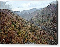 Through The Mountains Acrylic Print