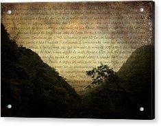 Through The Mountains Acrylic Print by Valmir Ribeiro
