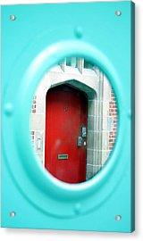 Through The Round Window Acrylic Print by Jez C Self
