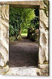 Through The Stone Wall Acrylic Print by Rae Tucker
