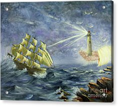 Acrylic Print featuring the painting Through The Storm by Kristi Roberts