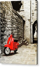 Through The Streets Of Italy - 01 Acrylic Print by Andrea Mazzocchetti