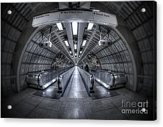 Through The Tunnel Acrylic Print by Evelina Kremsdorf