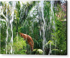 Through The Waterfall Acrylic Print