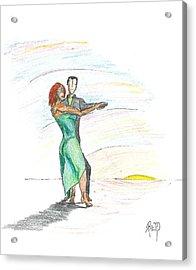 Through 'til Dawn... Sketch Acrylic Print by Robert Meszaros