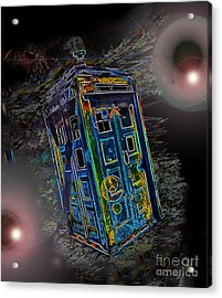 Tardis - Through Time And Space Acrylic Print by Rhonda Chase