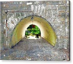 Acrylic Print featuring the mixed media Through by Tony Rubino