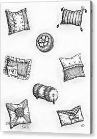 Throw Pillows Acrylic Print by Adam Zebediah Joseph