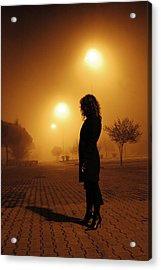 Thru The Fog Acrylic Print by Diego Bonomo