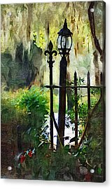 Acrylic Print featuring the digital art Thru The Gate by Donna Bentley