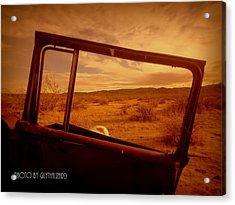Thruthewindow Acrylic Print by Guy Hoffman