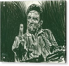 Thumbs Up Acrylic Print by Michael Morgan