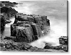 Thunder Along The Acadia Coastline - No 1 Acrylic Print by Thomas Schoeller