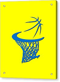 Thunder Basketball Hoop Acrylic Print by Joe Hamilton