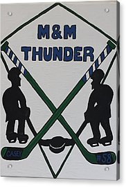 Thunder Hockey Acrylic Print