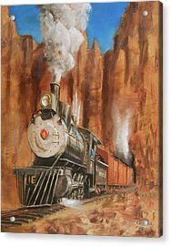 Thunder In Cathedral Canyon Acrylic Print by Christopher Jenkins