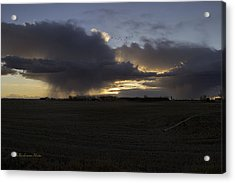 Thunder On The Prairie Acrylic Print by Tom Buchanan
