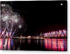 Thunder Over Louisville Acrylic Print by Andrea Silies