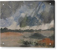 Acrylic Print featuring the painting Thunder Showers by Trilby Cole