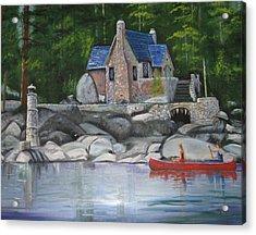 Thunderbird Lodge Boat House Acrylic Print