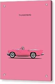 Thunderbird Pink Acrylic Print by Mark Rogan