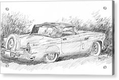 Acrylic Print featuring the drawing Thunderbird Sketch by David King