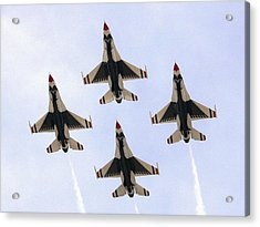 Thunderbirds Away Acrylic Print by Kevin Fortier