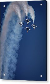 Acrylic Print featuring the photograph Thunderbirds Diamond Formation by Rick Berk